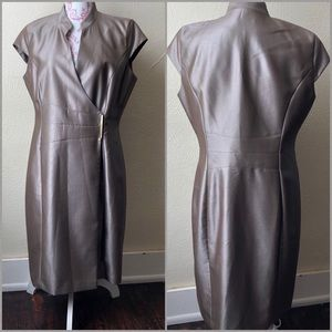 Calvin Klein Crossover Dress with Cap Sleeve 12